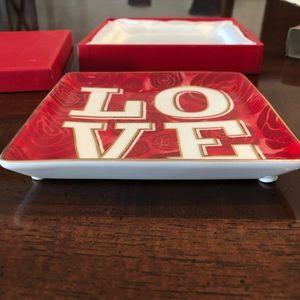 Love trinket ring coin keys tray 5 x 5